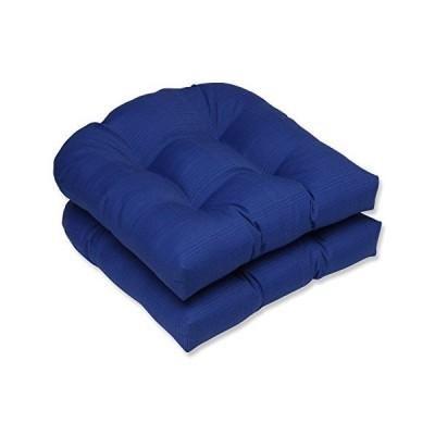 Pillow Perfect Outdoor/Indoor Veranda Cobalt Tufted Seat Cushions Round Bac