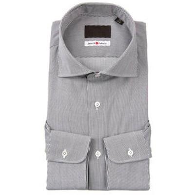 ≪JAPAN FABRIC≫ホリゾンタルカラードレスシャツ ストライプ