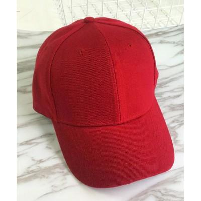 (miniministore/ミニミニストア)キャップ レディース メンズ ローキャップ?ツバあり カーブキャップ 帽子 スポーツ 無地 CAP おしゃれ 男女兼用 野球帽/レディース レッド