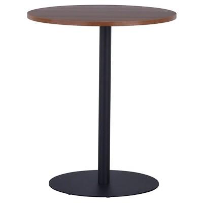 リフレッシュ丸テーブル3 φ600  ウォルナット ブラック脚 RFRT3-600DM-BL アールエフヤマカワ