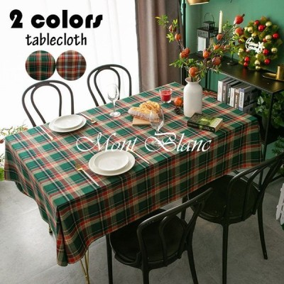 テーブルクロス テーブルマット 北欧風 布 四角形 長方形 テーブルカバー 防油 汚れ防止 チェック柄 お手入れ簡単 おしゃれ 復古 クリスマス風 食卓カバー 2色