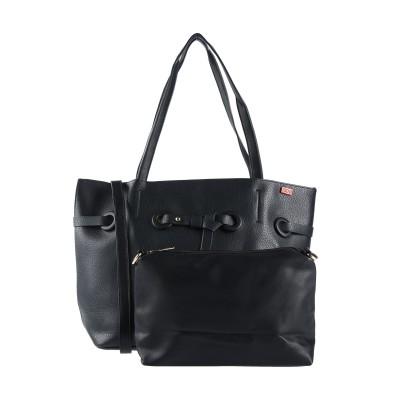 TSD12 ハンドバッグ ブラック ポリウレタン 70% / コットン 30% ハンドバッグ