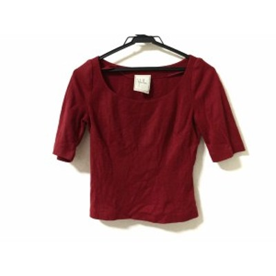 シビラ Sybilla 半袖セーター サイズ40 XL レディース ボルドー【中古】20200624