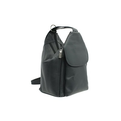 Visconti Leather Backpack Style 18357 Navy 並行輸入品