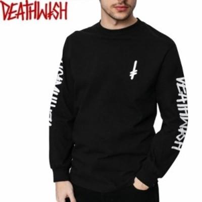 デスウィッシュ DEATHWISH スケボー ロングTシャツ LANDMARK LONGSLEEVE TEE ブラック×ホワイト NO5