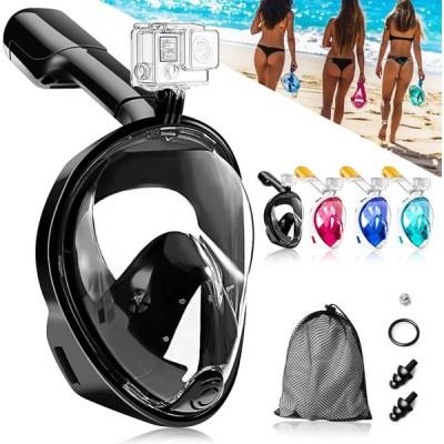 HEARTST シュノーケルマスク 浸水防止 ダイビングマスク 180°パノラマシービュー フルフェイス型 防曇設計 自由に呼吸可能 ダイビングマスク