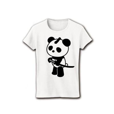 パンダ侍 リブクルーネックTシャツ(ホワイト)