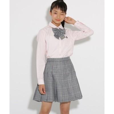 スカート 【卒服】リボンタイ付 チェックプリーツスカート