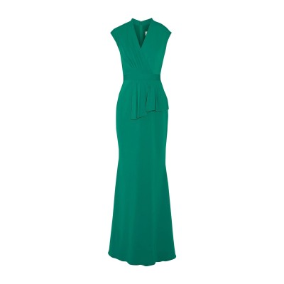 BADGLEY MISCHKA ロングワンピース&ドレス グリーン 6 ポリエステル 98% / ポリウレタン 2% ロングワンピース&ドレス