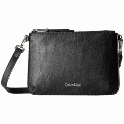 カルバンクライン Calvin Klein レディース ショルダーバッグ バッグ Unlined Pebble PVC Crossbody Black/Grey