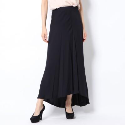 リネーム Rename 絹使用ロングスカート (ネイビー)