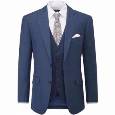 スコープス Skopes メンズ スーツ・ジャケット アウター Caulfield Linen Blend Suit Jacket French Navy