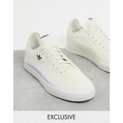 アディダス adidas Originals レディース スニーカー シューズ・靴 Sabalo trainers in off white suede exclusive to ASOS ホワイト