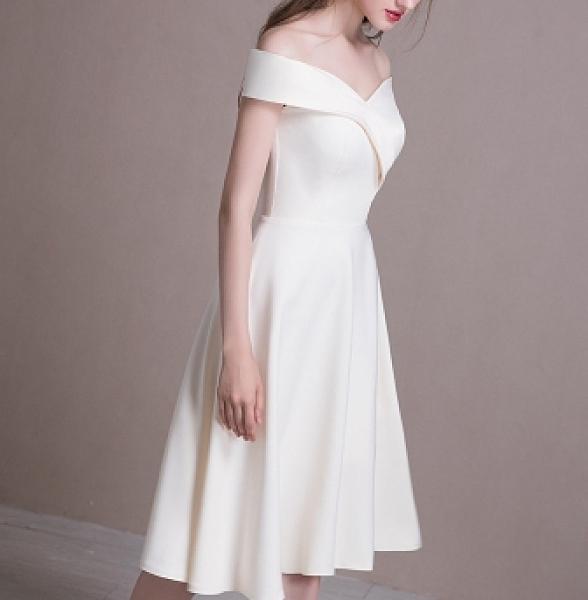(45 Design高雄實體店面)  定製七天 婚紗  晚禮服 洋裝 長禮服 伴娘服 前短後長 短禮服 大尺寸2