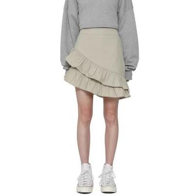 somedayif レディース スカート Lovely frill cotton mini skirt
