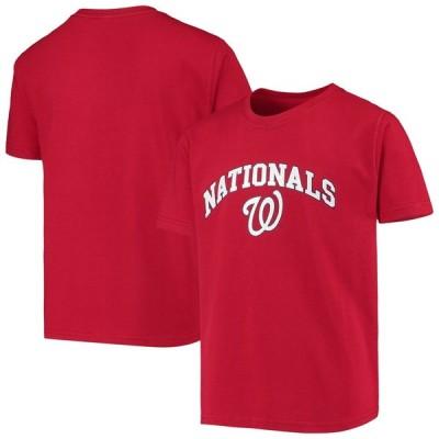 ワシントン・ナショナルズ Stitches Youth 少年用 Heat Transfer T-シャツ - Red