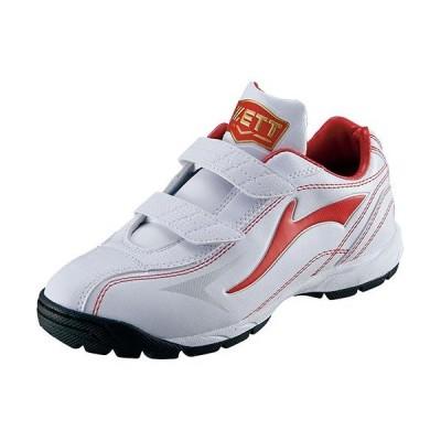 ゼット(ZETT) ジュニア 野球 トレーニングシューズ ランゲットDX2 ホワイト/レッド BSR8206J 1164 少年野球 トレシュー 靴