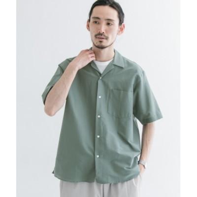 【アーバンリサーチ/URBAN RESEARCH】 UR コットンシルクショートスリーブオープンカラーシャツ