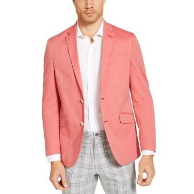 アンリステッド ジャケット&ブルゾン アウター メンズ Men's Slim-Fit Stretch Chambray Sport Coat,  Red