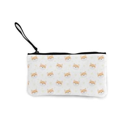 柴犬 大容量小銭入れ 持ち運び便利 小物入れ キャンバス ウォレット ポーチ ペンケース おしゃれ 財布 かわい?
