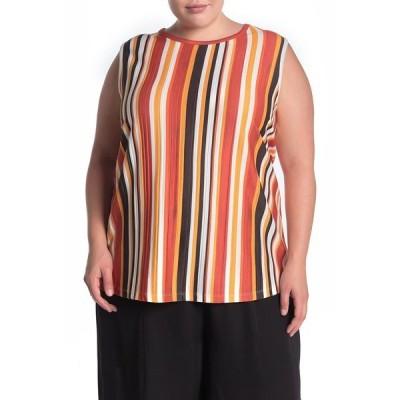 プレイオネ レディース シャツ トップス Stripe Sleeveless Shirt MULTI