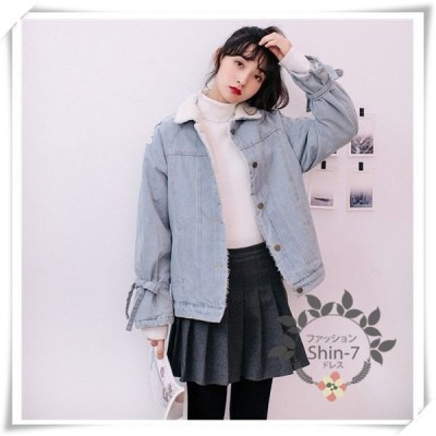 もこもこデニムジャケットコート中綿ダウンジャケットレディース冬服アウター暖かい防風防寒大きいサイズ軽量デニムコート