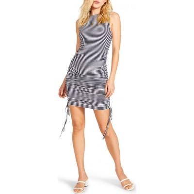 スティーブ マデン BB DAKOTA BY STEVE MADDEN レディース ボディコンドレス ワンピース・ドレス Wait a Minute Stripe Body-Con Dress Navy