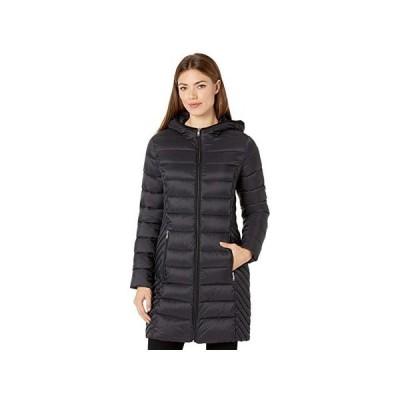 トミー・ヒルフィガー Mid Length Hooded Packable Jacket レディース コート アウター Black