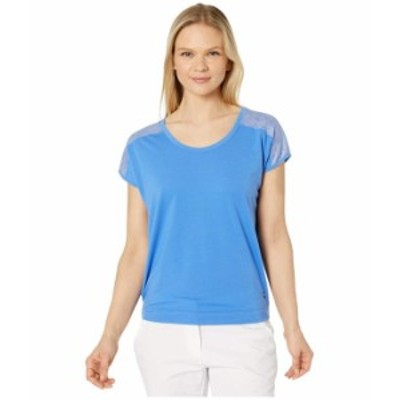 プーマ レディース シャツ トップス Slouchy Tee Palace Blue/Palace Blue Heather