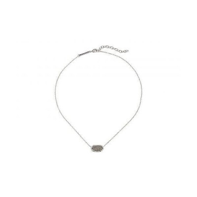 Kendra Scott ケンドラスコット レディース 女性用 ジュエリー 宝飾品 ネックレス Elisa Pendant Necklace - Rhodium/Platinum Drusy