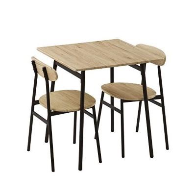 ぼん家具 ダイニングテーブル 2人用 ダイニング 3点セット チェア2脚 おしゃれ オーク