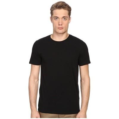 ヴィンス シャツ メンズ Short Sleeve Pima Cotton Crew Neck Shirt Black