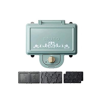 ブルーノ BRUNO ホットサンドメーカー ムーミン 耳まで焼ける 電気 ミニタルトプレート セット ダブル ブルーグリーン BOE051-BGR 1
