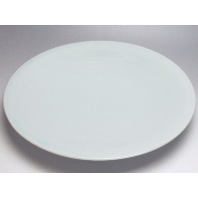 【B級品】薄青 高台皿(φ312) [普段使いの食器]