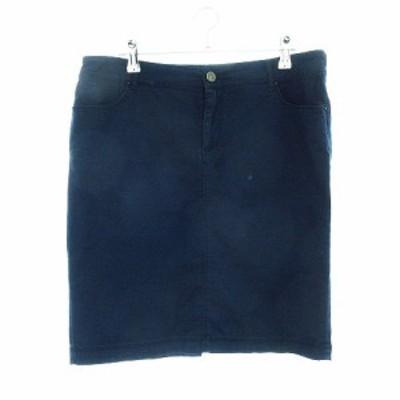 【中古】ザラ ベーシック ZARA BASIC jeanswear スカート タイト ミニ 無地 M 青 ブルー /CK レディース