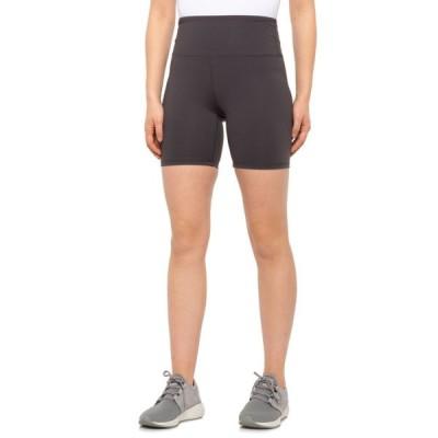 キョーダン Kyodan レディース ショートパンツ ボトムス・パンツ High-Waisted Double-Brushed Shorts - 5 Slate