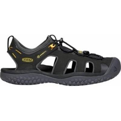 キーン メンズ サンダル シューズ KEEN Men's SOLR Sandals Black/Gold