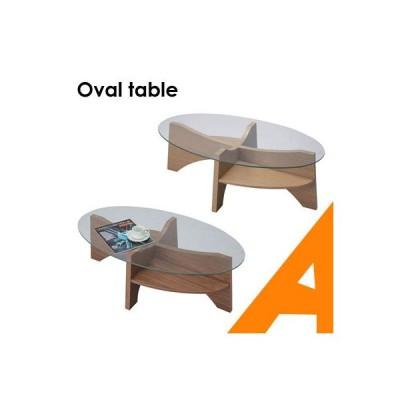 テーブル おしゃれ ガラステーブル リビングテーブル ローテーブル センターテーブル オーバル 楕円形 デザイン 新生活