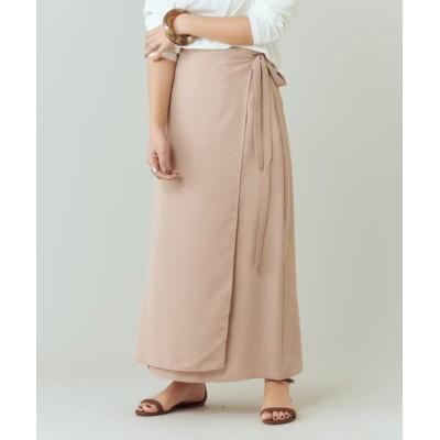 outlet/【SHENERY】ラップロングスカート