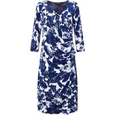 ジュームズ レイクランド James Lakeland レディース パーティードレス ラップドレス ワンピース・ドレス Wrap Dress Navy
