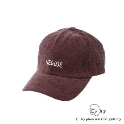 キャップ レディース メンズ ブランド 帽子 コーデュロイ ロゴ E hyphen world gallery イーハイフン 得トク2 帽子 セール 送料無料
