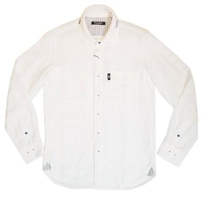 ビアネロ BIANERO 麻混 長袖シャツ 日本製 238-3172 2021春夏新作 通常販売価格:30800円