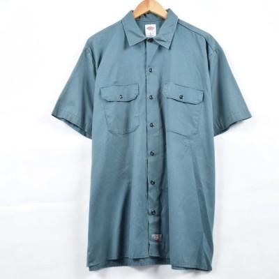 ディッキーズ Dickies 半袖 ワークシャツ メンズXL /eaa017992