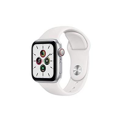 特別価格Apple Watch SE (GPS + セルラー、40mm) - シルバーアルミニウムケース ホワイトスポーツバンド付き好評販売中