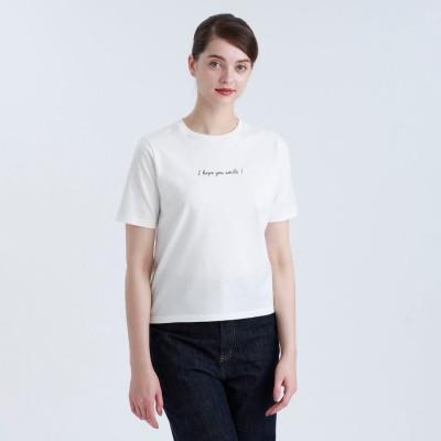 マッキントッシュ フィロソフィー MACKINTOSH PHILOSOPHY メッセージTシャツ「I hope you smile!」 (オフホワイト)