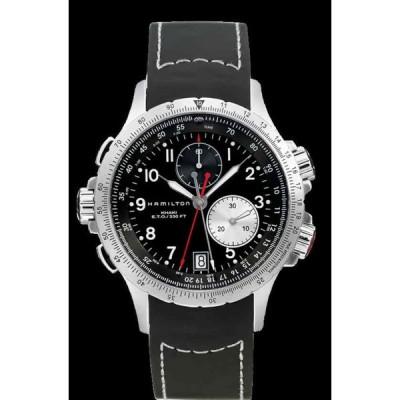 ハミルトン 腕時計 Hamilton Khaki Aviation アビエーション ETO Chrono Black Dial Rubber Band メンズ Watch H77612333