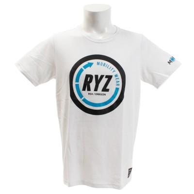 RYZストリート系ウェアTシャツ 半袖 CIRCLE 869R9CD6316 WHTホワイト