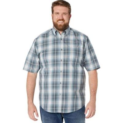 ウルヴァリン Wolverine メンズ 半袖シャツ 大きいサイズ トップス Big & Tall Mortar Short Sleeve Shirt Dark Slate Plaid