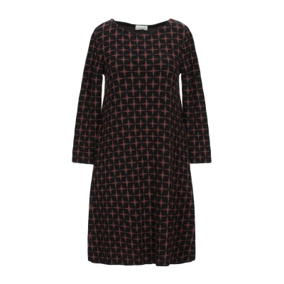 SIYU ミニワンピース&ドレス ブラウン 38 ウール 100% ミニワンピース&ドレス