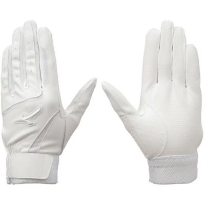 【Mizuno】ミズノ バッティング手袋  両手用 高校野球ルール対応モデル 1ejeh021